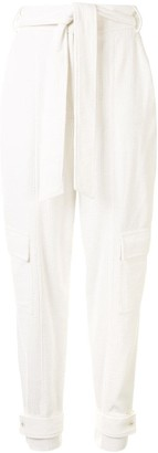 Manning Cartell Australia Ribbed Belted Tapered Trousers