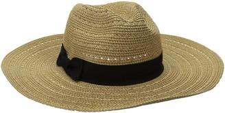 San Diego Hat Company Women's 4-Inch Brim Ultrabraid Panama Sun Hat with Gold Yarns Woven in