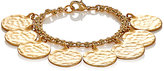 Kenneth Jay Lane WOMEN'S HAMMERED COIN BRACELET-GOLD