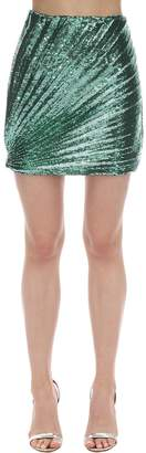 Marco De Vincenzo Sequined Techno Mini Skirt