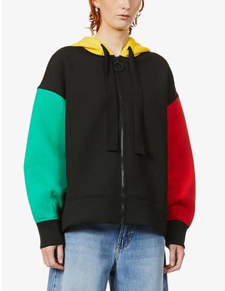 Benetton Block intarsia wool-blend cardigan