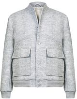 Burton Mens Grey Boucle Bomber Jacket