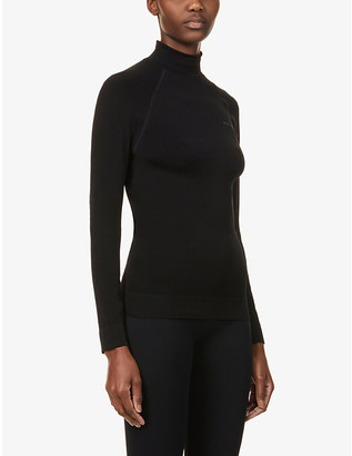 FALKE ERGONOMIC SPORT SYSTEM Maximum Warm turtleneck stretch-woven top