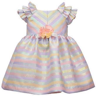Bonnie Jean Baby Girls Short Sleeve Striped A-Line Dress