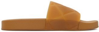 Bottega Veneta Brown Intrecciato Flat Slides
