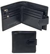 Kingsley Black Leather 'rfid' Tab Wallet