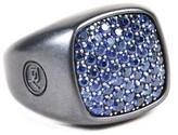 David Yurman Black Titanium & Blue Sapphire