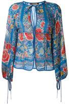 Roberto Cavalli printed peasant blouse - women - Silk - 42