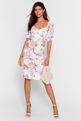 Nasty Gal Womens Stalk This Way Floral Midi Dress - White