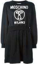 Moschino logo print sweatshirt dress