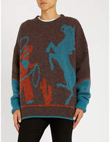 Dsquared2 Cowboy-intarsia wool jumper