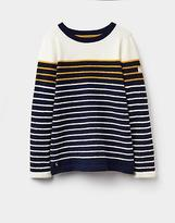 Joules 124352 Womens Seaham Chenille Textured Sweatshirt in Navy Gold
