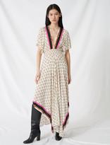 Maje Muslin dress with scarf print