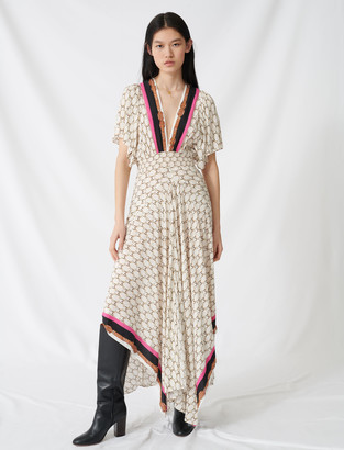 Maje Dress with scarf print