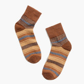 Madewell Metallic Stripe Ankle Socks