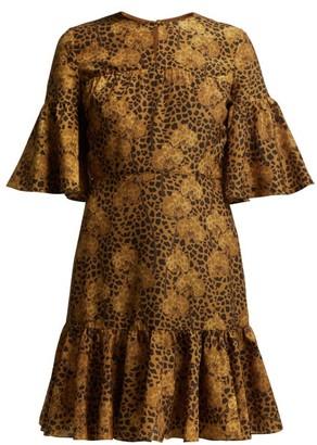 Borgo de Nor Alba Floral-print Crepe Dress - Leopard