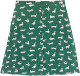 Cath Kidston Mono Dog Viscose Twill Skirt
