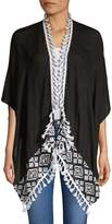 Vince Camuto Women's Embroidered Tassel Cardigan