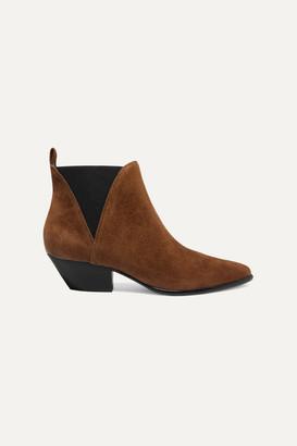 Diane von Furstenberg Nadie Suede Chelsea Boots - Brown