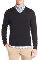 Nordstrom Cotton & Cashmere V-Neck Sweater (Regular & Tall)