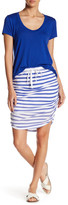 Splendid Shirred Striped Pencil Skirt