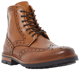 Bertie Cyrus Leather Brogue Boots, Tan