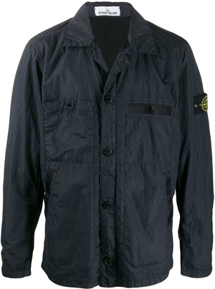 Stone Island Patch-Pocket Lightweight Overshirt Jacket