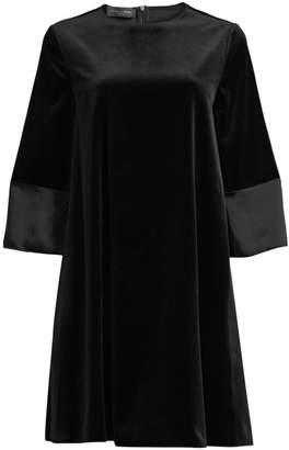 Piazza Sempione Stretch-Velvet Shift Dress
