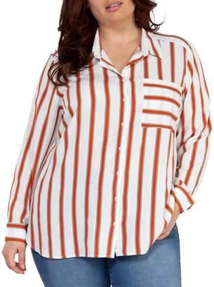 Dex Plus Striped Long-Sleeve Shirt