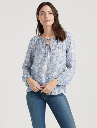 Lucky Brand Eloise Printed Peasant Top