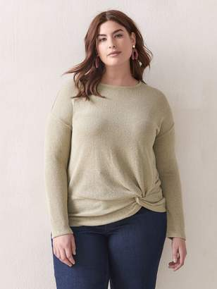 Addition Elle 3/4 Sleeve Knot Top