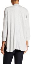 Andrea Jovine Dolman Sleeve Rib Trim Cardi