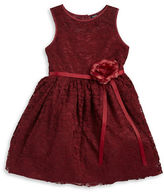 Zunie Girls 7-16 Floral Accented Lace Dress