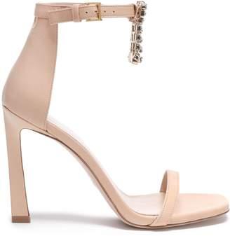 Stuart Weitzman Crystal-embellished Leather Sandals