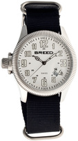 Breed Silver & White Angelo Swiss Watch