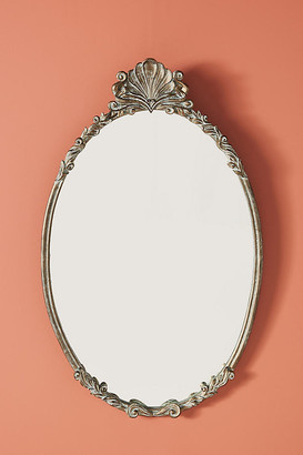Anthropologie Camillia Oval Mirror By in Blue Size S
