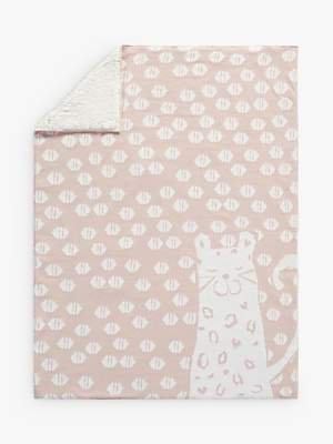 Pottery Barn Kids Cheetah Sherpa Baby Blanket