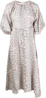 Bec & Bridge Asymmetric Puff Sleeve Dress