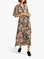 French Connection Floriana Drape Dress, Cactus