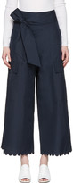 See by Chloe Navy Belted Culottes