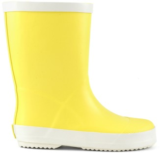 Colors of California Matte Yellow Rubber Rain Boots - 26