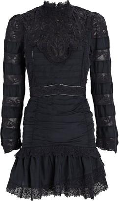 LoveShackFancy Harmon Lace-Trimmed Mini Dress