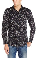 Perry Ellis Men's Slim Fit Multi Color Camo Print Shirt
