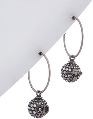 Christian Dior Pearl Detail Brass Earrings