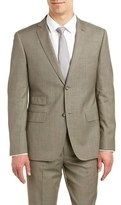Zanetti Modern Fit Wool Suit With Flat Front Pant.