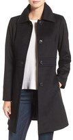 Kristen Blake Petite Women's Wool Blend Walking Coat