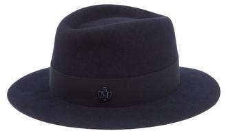 Maison Michel Andre Felt Fedora Hat - Navy
