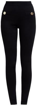 Balmain Zipped Button Leggings