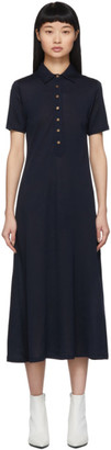 Rag & Bone Navy Lyocell Rower Polo Dress