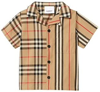 BURBERRY KIDS Jay Shirt (Infant/Toddler) (Archive Beige IP Check) Boy's Clothing